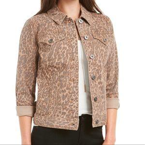 🆕 Leopard Print Denim Jacket XL